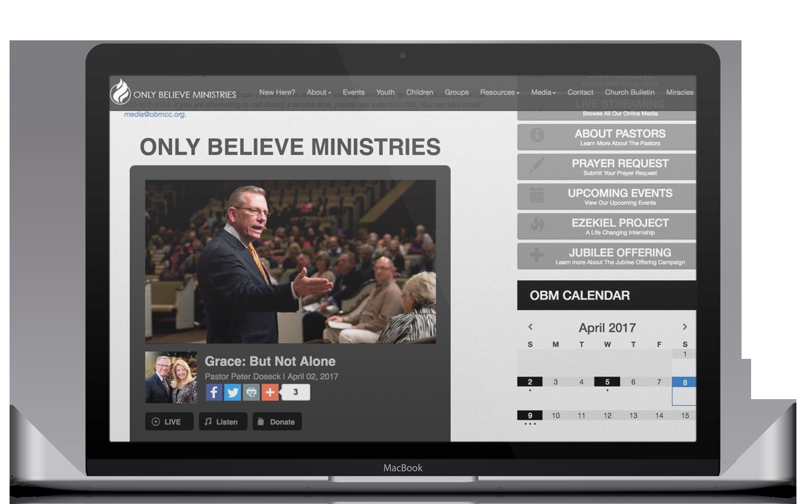 SMG Livestream on laptop